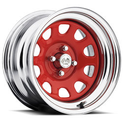 U.S. Wheel Daytona 022 - Red/Chrome Rim - 16x10
