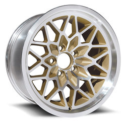 U.S. Wheel Snowflake 350 - Gold/Machine - 15x8