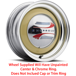 U.S. Wheel Solid 459 - Raw/Chrome Rim - 15x5