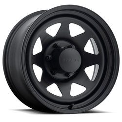 U.S. Wheel 8 Spoke Stealth 704 - Matte Black - 16.5x9.75