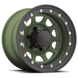 U.S. Wheel Daytona BL Stealth 844 - Camo Green Rim - 16x10