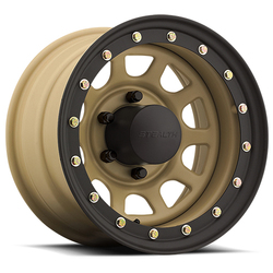 U.S. Wheel Daytona BL Stealth 844 - Desert Sand Rim - 15x12