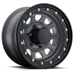 U.S. Wheel Daytona BL Stealth 844 - Gunmetal Rim - 15x12