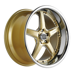 Vertini Wheels Drift - Machine Gold Chrome Lip Rim - 19x10.5