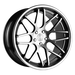 Vertini Wheels Magic - Machine Black / Chrome Lip Rim - 22x10.5