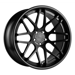 Vertini Wheels Magic - Matte Black Gloss Black Lip Rim - 22x10.5