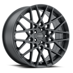 Vision Wheels 474 Recoil - Satin Black Rim - 17x8