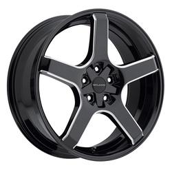 Milanni Wheels 464 VK-1 - Gloss Black Milled Spoke Rim - 22x8.5