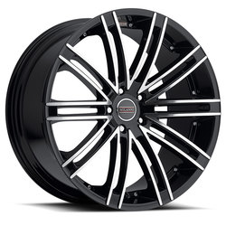 Milanni Wheels 9032 Khan - Gloss Black Machined Face Rim - 22x10.5