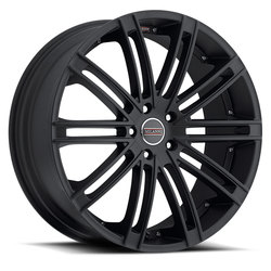 Milanni Wheels 9032 Khan - Satin Black Rim - 22x10.5