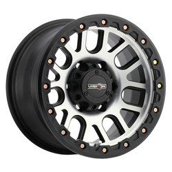 Vision Wheels Vision Wheels Nemesis - Matte Black Machined Face - 17x9
