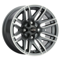 Vision Wheels 112 Assault - Gunmetal Machined Face Rim - 14x7