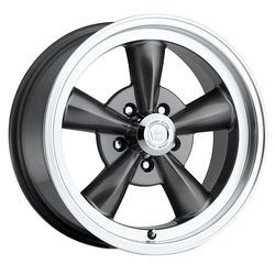 Vision Wheels Vision Wheels Legend 5 - Gunmetal Machined Lip - 15x7