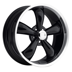Vision Wheels 142 Legend 5 - Gloss Black Machined Lip Rim - 17x7