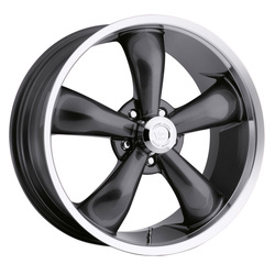 Vision Wheels 142 Legend 5 - Gunmetal Machined Lip Rim - 22x9.5