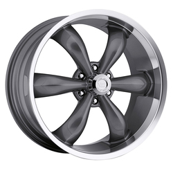 Vision Wheels 142 Legend 6 - Gunmetal Machined Lip