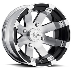 Vision Wheels 158 Buckshot - Gloss Black Machined Face and Lip