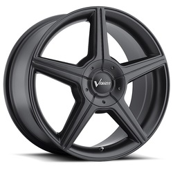 Vision Wheels 168 Autobahn - Matte Black