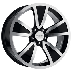 Vision Wheels Vision Wheels 326 Shaker - Gloss Black Machined Face - 20x8.5