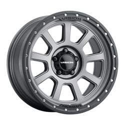 Vision Wheels 350 Ojos - Satin Grey Rim - 18x9