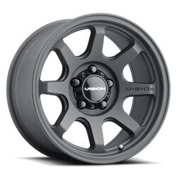 Vision Wheels 351 Flow - Satin Black Rim - 17x8