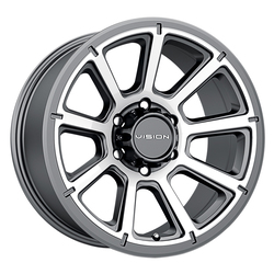 Vision Wheels 353 Turbine - Gunmetal Machined Face Rim - 18x9