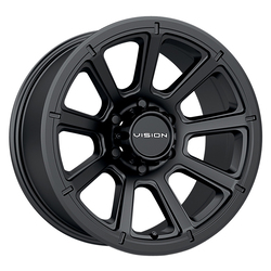 Vision Wheels 353 Turbine - Matte Black Rim - 17x8.5