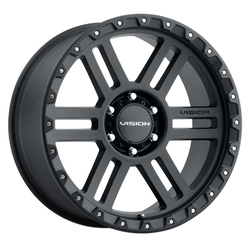 Vision Wheels 354 Manx2 - Satin Black Rim - 18x9