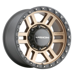 Vision Wheels 354 Manx2 - Satin Bronze W/ Satin Black Lip SS Bolts Rim