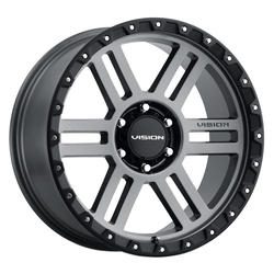 Vision Wheels 354 Manx2 - Satin Grey Rim - 18x9