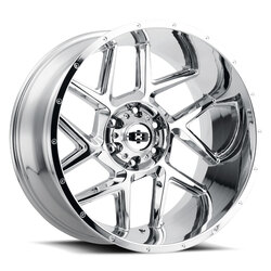 Vision Wheels 360 Sliver - Chrome Rim - 20x12
