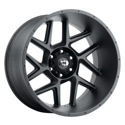 Vision Wheels 360 Sliver - Satin Black Rim - 20x12