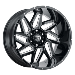 Vision Wheels 361 Spyder - Gloss Black Milled Spokes - 22x12