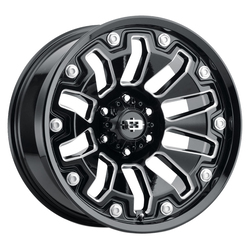 Vision Wheels 362 Armor - Gloss Black Milled Spokes