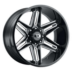 Vision Wheels 363 Razor - Gloss Black Milled Spoke Rim