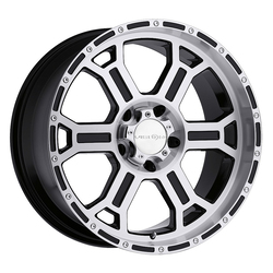 Vision Wheels 372 Raptor - Gloss Black Mirror Machined Face Rim - 22x9.5