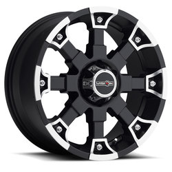 Vision Wheels 392 Brutal - Matte Black Machined Face - 20x9