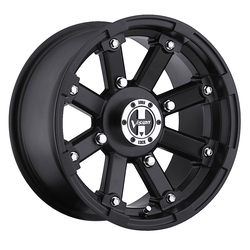 Vision ATV Wheels 393 Lock Out - Matte Black - 14x7