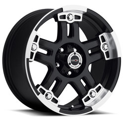 Vision Wheels 394 Warlord - Matte Black Machined Face