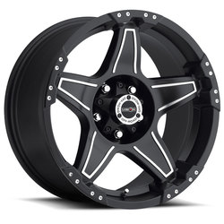 Vision Wheels 395 Wizard - Matte Black Machined Face Rim - 17x8.5