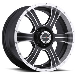 Vision Wheels 396 Assassin - Matte Black Machined Face Rim - 20x9