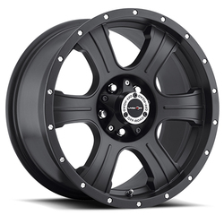 Vision Wheels 396 Assassin - Matte Black Rim - 16x8