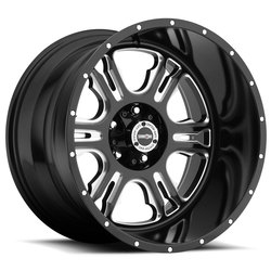 Vision Wheels 397 Rage - Gloss Black Milled Spoke Rim - 20x12