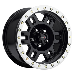 Vision Wheels 398 Manx - Gloss Black Machined Lip Rim - 16x7