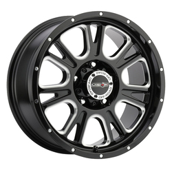 Vision Wheels 399 Fury - Gloss Black Milled Spoke Rim - 17x8.5