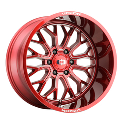Vision Wheels 402 Riot - Red Tint Milled Spoke Rim