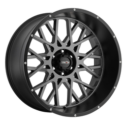 Vision Wheels Rocker - Anthracite with Satin Black Lip - 22x12