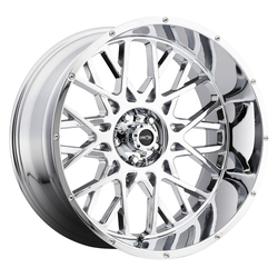 Vision Wheels 412 Rocker - Chrome Rim - 24x12
