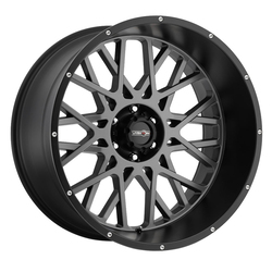 Vision Wheels 412 Rocker - Anthracite with Satin Black Lip Rim - 24x12