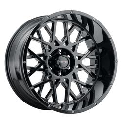 Vision Wheels 412 Rocker - Gloss Black Rim
